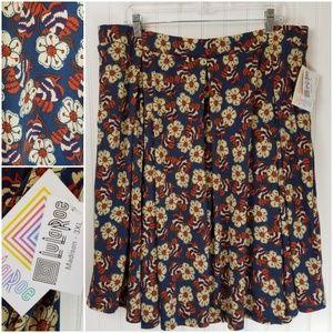 LuLaRoe Madison Teal Fall Floral Skirt Size 3XL